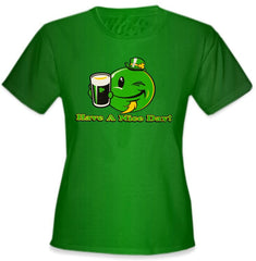 St. Patrick's Day Tees - Have a Nice Day Irish Smiley Girls T-Shirt