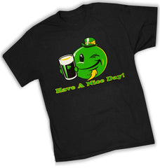 St. Patrick's Day Tees - Have a Nice Day Irish Smiley T-Shirt