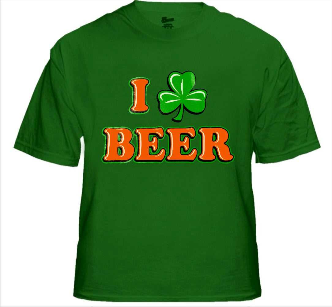St. Patrick's Day Tees - I Love Beer Shamrock T-Shirt