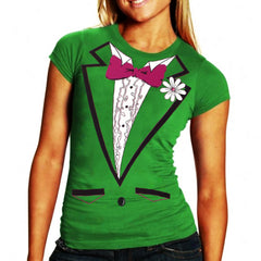 St. Patrick's Day Tuxedo Shirt For Girls