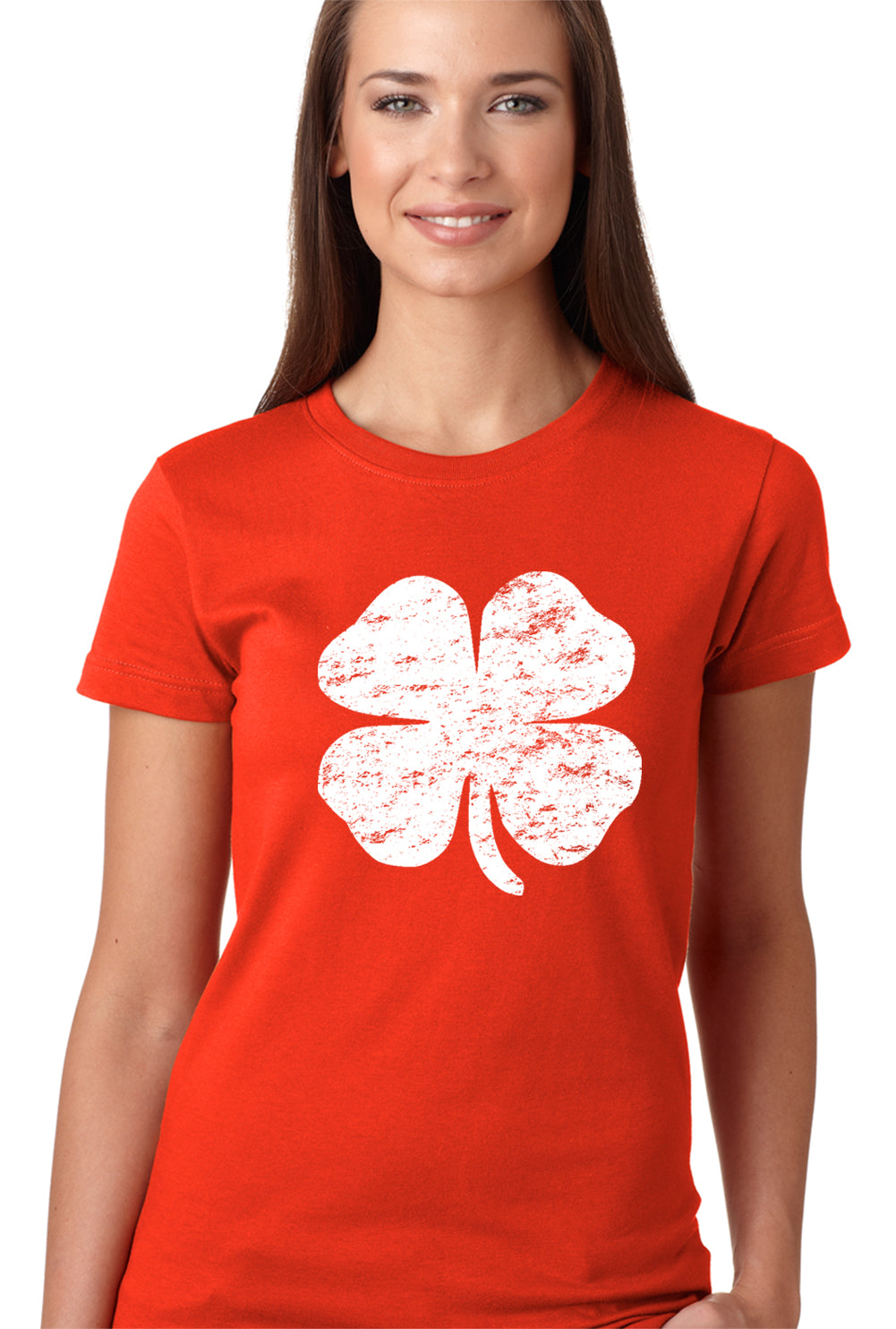 St. Patrick's Day Vintage Distressed 4 Leaf Clover Girls T-shirt