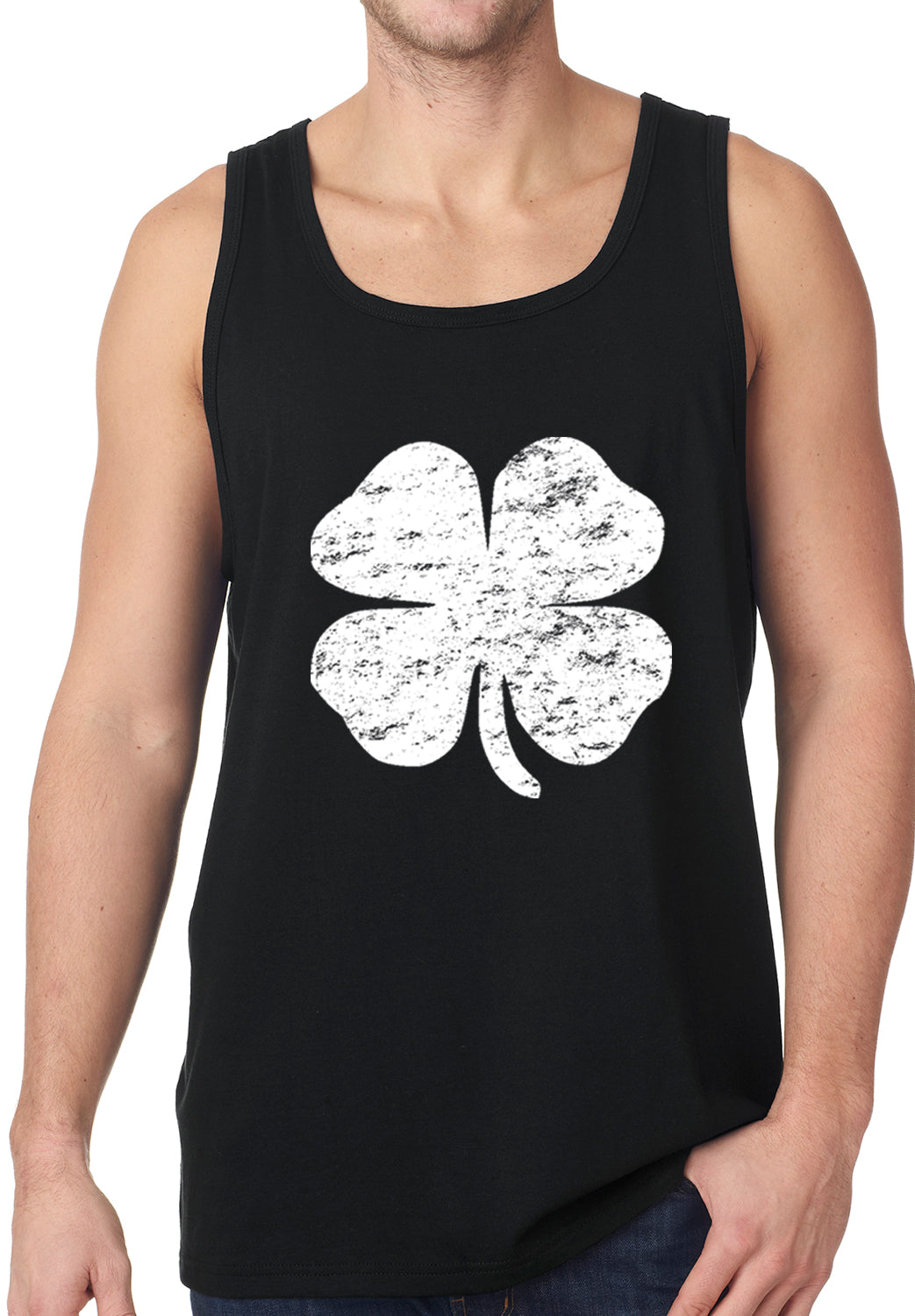 b838e0ff St. Patrick's Day Vintage Distressed 4 Leaf Clover Tanktop – Bewild