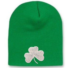 St. Patricks Day Shamrock Winter Beanie