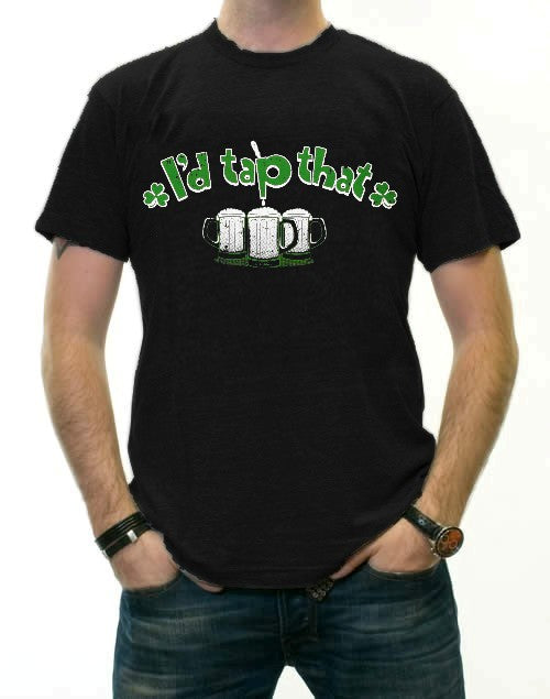 St. Patricks Day Tees - I'd Tap That Shamrock T-Shirt