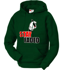 Stay Faded Cartoon Hands Adult Hoodie
