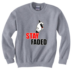 Stay Faded Cartoon Hands Crewneck Sweatshirt