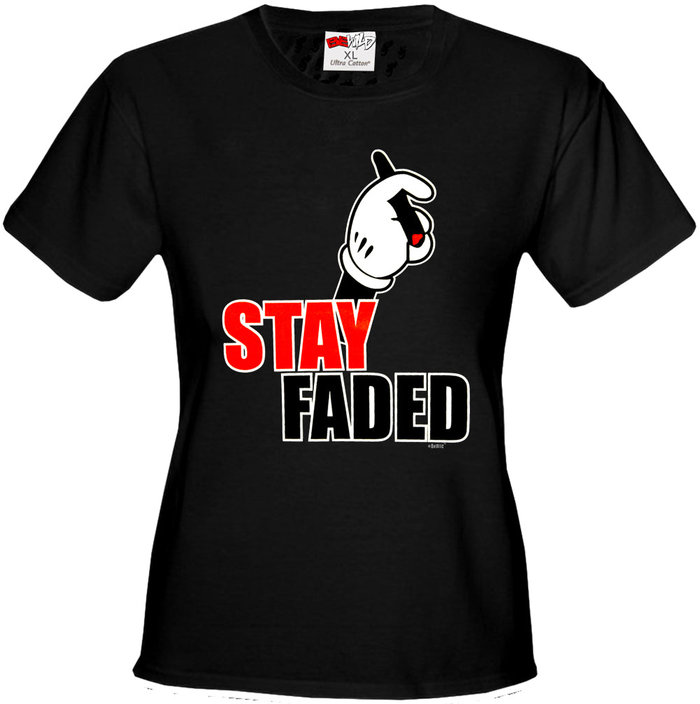 Stay Faded Cartoon Hands Girl's T-Shirt