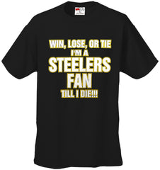 Steelers Fan Till I Die Kids T-shirt