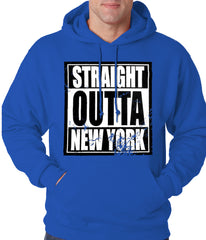 Straight Outta New York Adult Hoodie