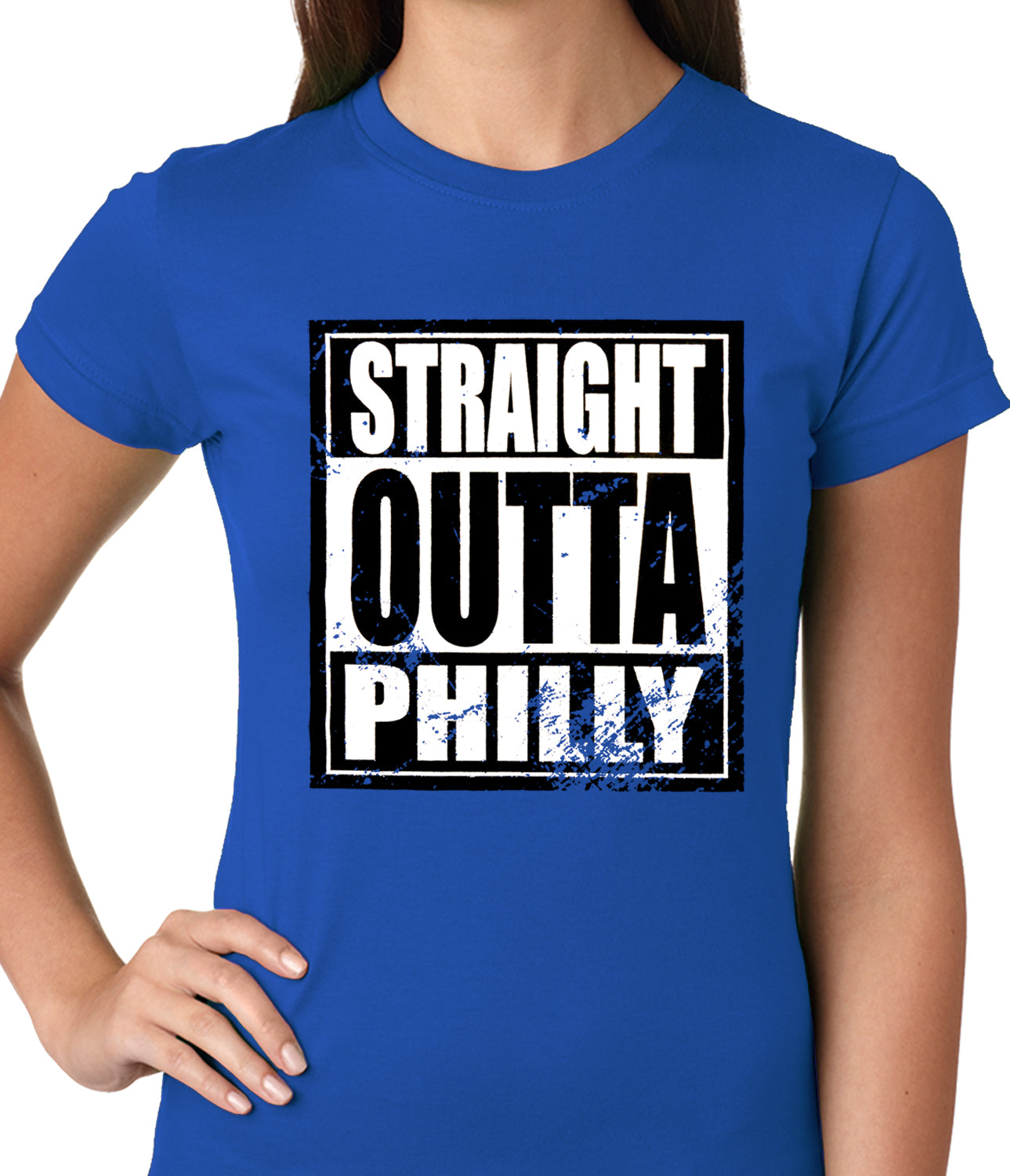 Straight Outta Philly Ladies T-shirt