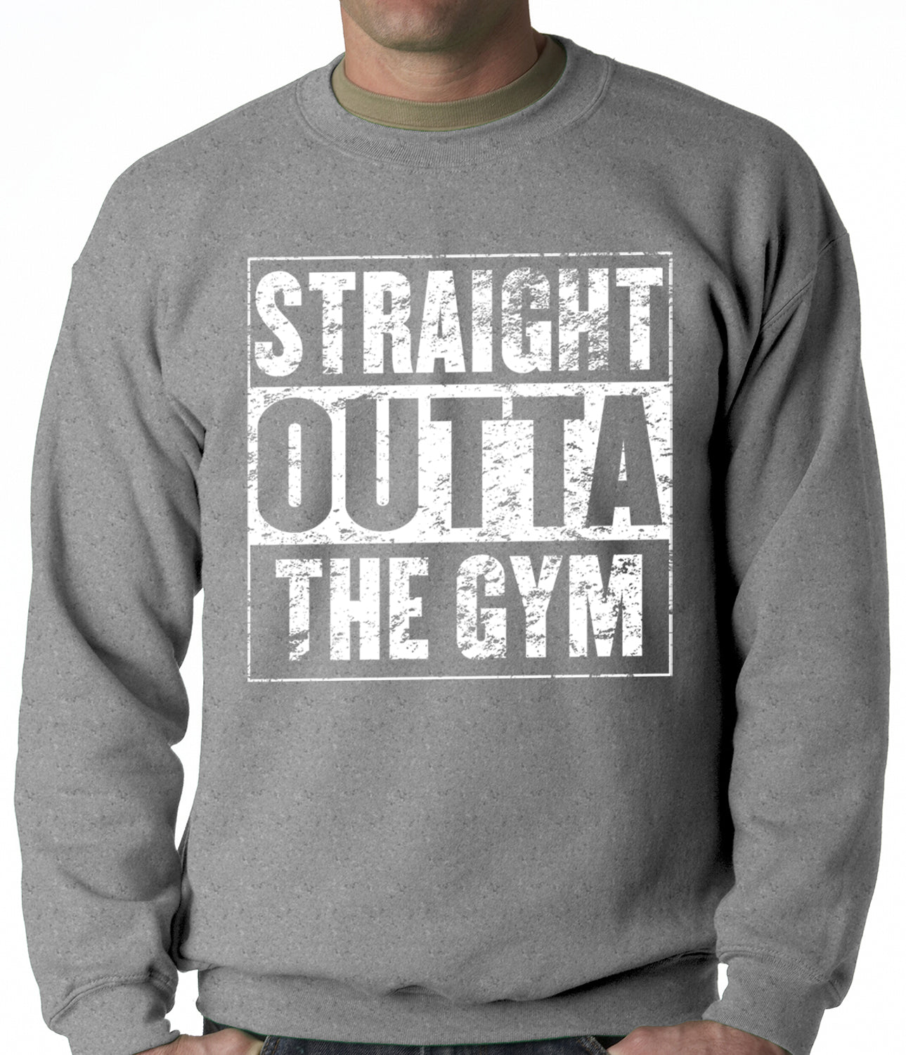 Straight Outta The Gym Adult Crewneck