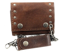 Studded Celtic Cross Leather Wallet