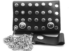 Studded Premium Leather Chain Wallet