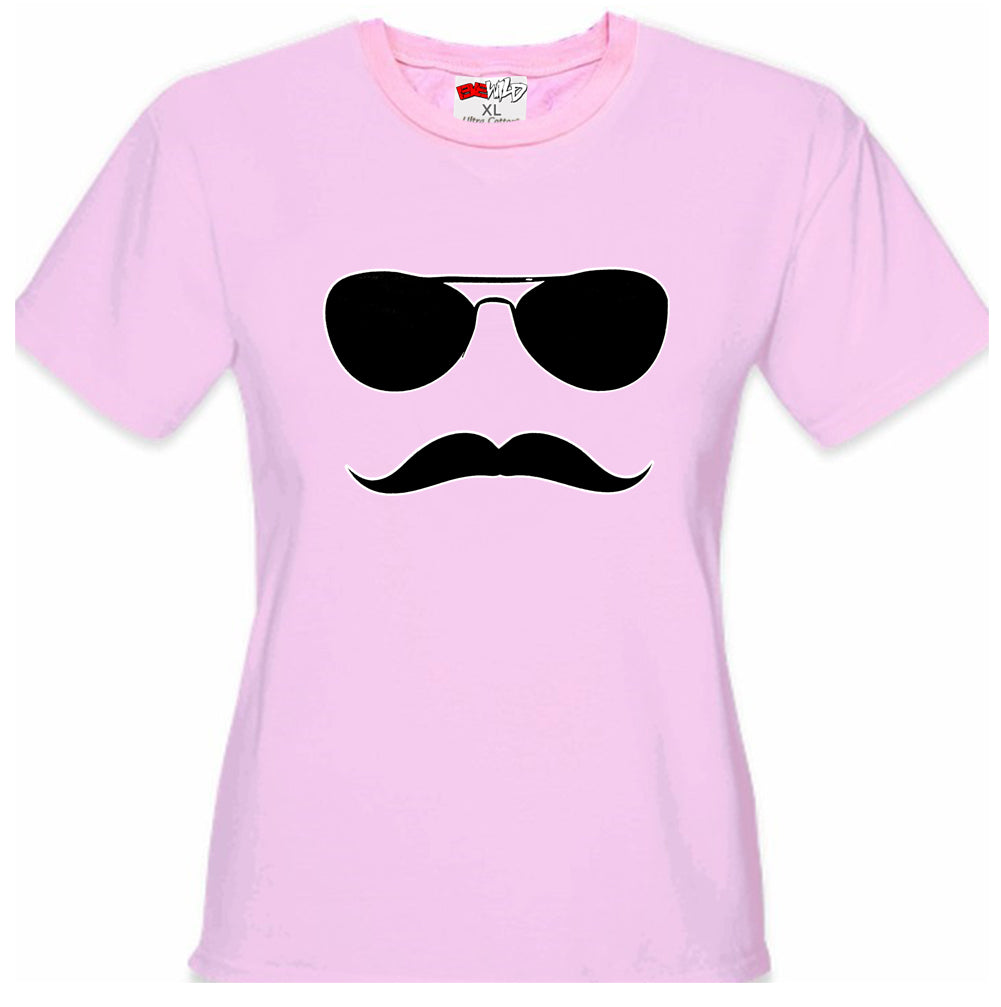 Sunglasses Mustache Girl's T-Shirt
