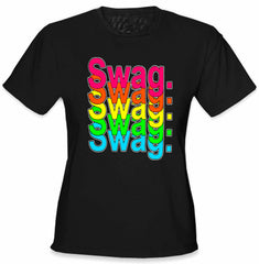 Swag Multi-Color Neon Girl's T-Shirt