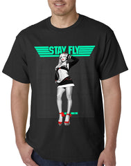 "T.I.T.S. Clothing -Two In The Shirt ""Stay Fly"" Mens T-Shirt"