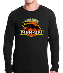 T-Rex Hates Pushups Funny Thermal Shirt