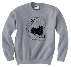 T-REX Head Crew Neck Sweatshirt