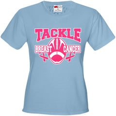 Tackle Breast Cancer Girls T-shirt