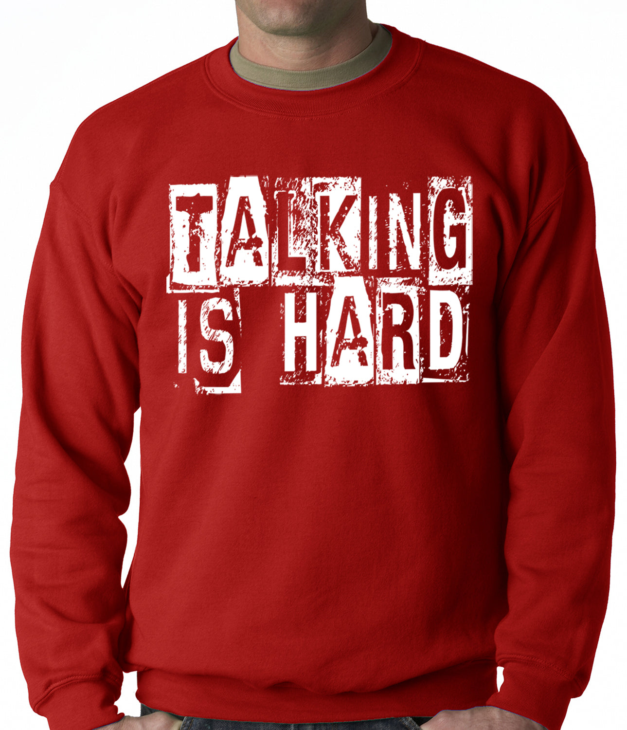 Talking Is Hard Adult Crewneck