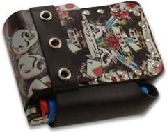 Tattoo Art Cigarette Pouch with Lighter Holder (For Regulars & 100's)