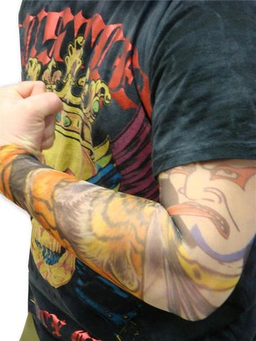 Tattoo Sleeves - Japanese Tiger & Kabuki Taunt Tattoo Sleeves (Pair)