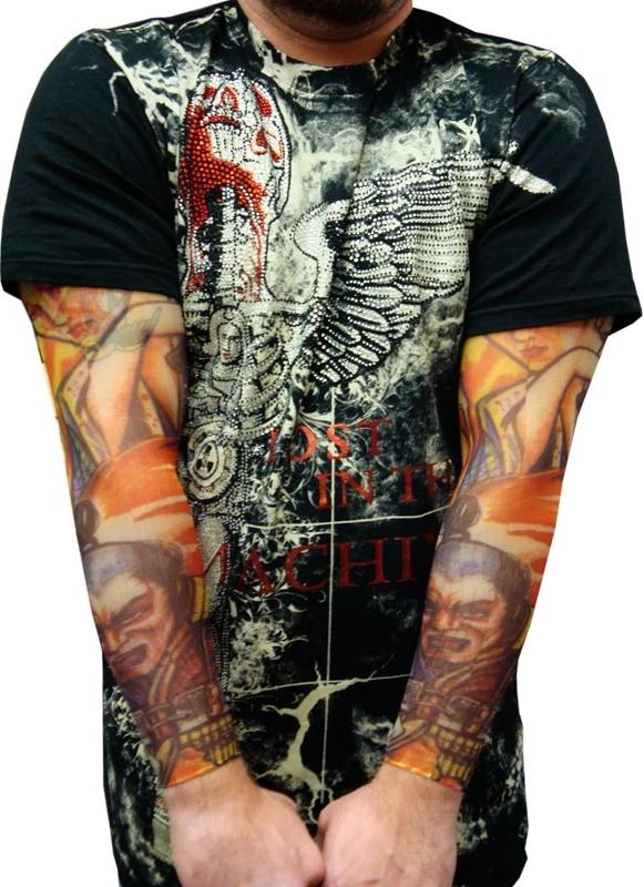 Tattoo Sleeves - Japanese Warrior Tattoo Sleeves (Pair)