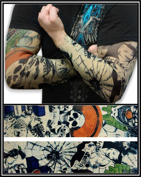Tattoo Sleeves Prison Ink Temporary Tattoo Sleeves Pair