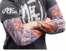 Tattoo Sleeves - Psycho Slip on Tattoo Sleeves (Pair)