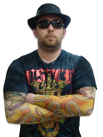 Tattoo Sleeves - Raging Sun & Dragon Tattoo Sleeves (Pair)