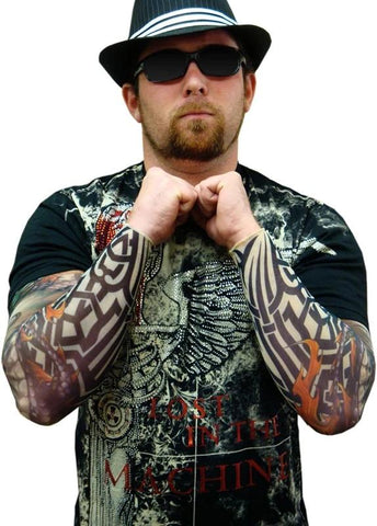 Tattoo Sleeves - Tribal Biker Tattoo Sleeve (Pair)