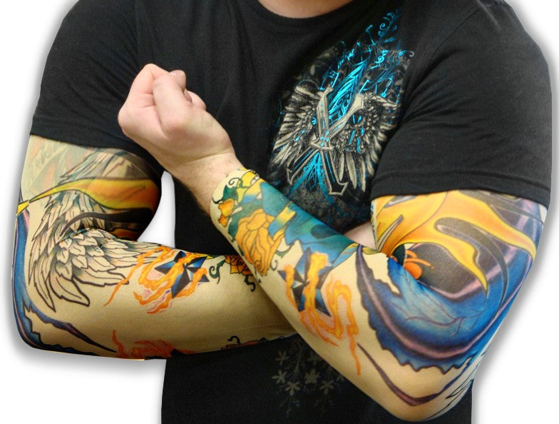 Tattoo Sleeves - Two Faced Sun Temporary Tattoo Sleeves (Pair) – Bewild