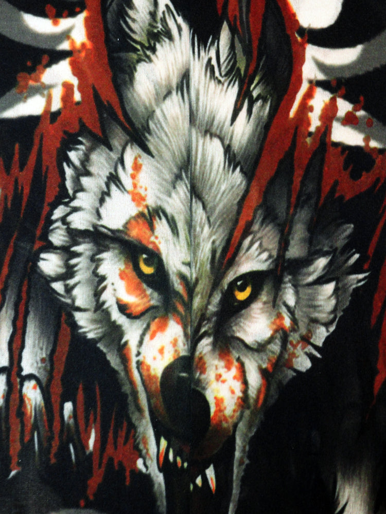 Tattoo Sleeves - Vicious Wolf Fake Tattoo Sleeves (Pair)
