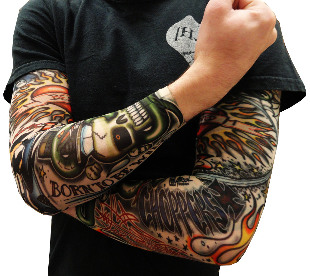 Tattoo sleeves vintage rockabilly fake tattoo sleeves for Fake name tattoos