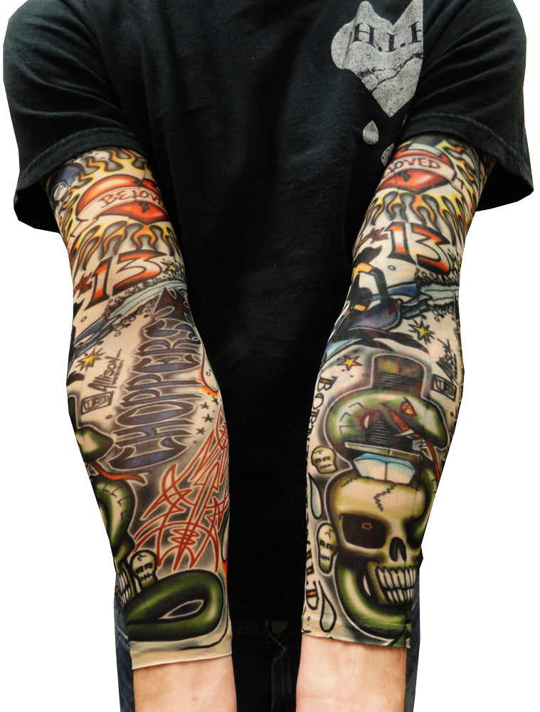 tattoo sleeves vintage rockabilly fake tattoo sleeves pair bewild. Black Bedroom Furniture Sets. Home Design Ideas
