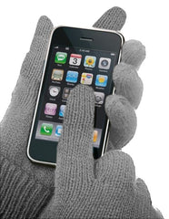 Texting Gloves - Pair of Gloves for Touch Screens (Grey)