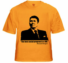 The Best Social Program Is A Job Ronald Reagan Men's T-Shirt