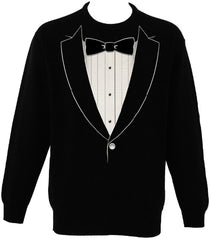 """The Classic"" Black Tie Tuxedo Men's Crew Neck Sweat Shirt"