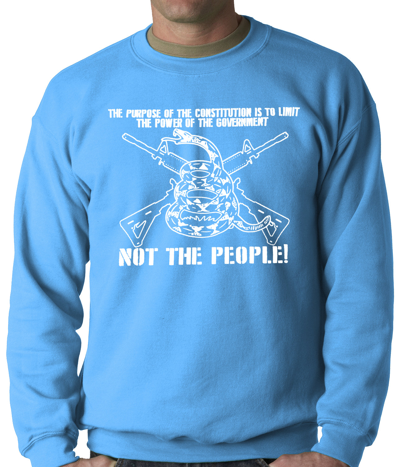 The Constitution Limits The Government Not People Adult Crewneck