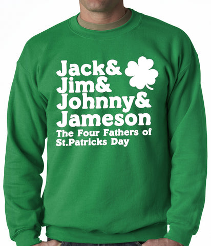 The Four Fathers of St. Patrick's Day Crewneck