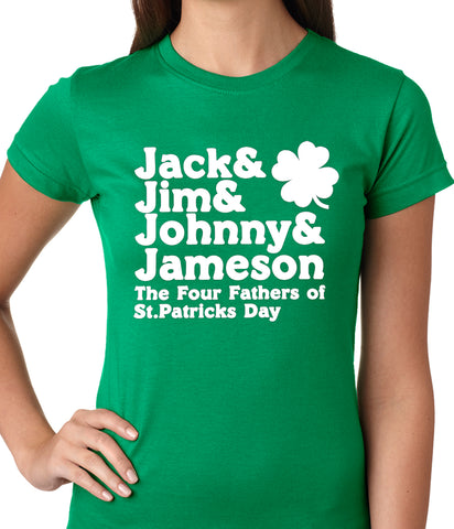 The Four Fathers of St. Patrick's Day Girls T-shirt