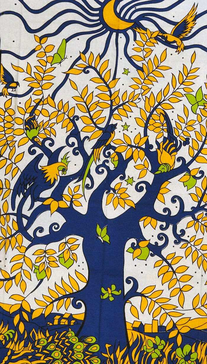 The Golden Tree Of Life Tapestry (55 X 85)