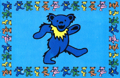 "The Grateful Dead ""Youtchi Bear"" Dancing Bear Tapestry"