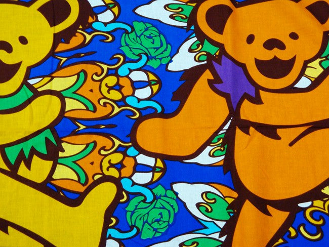 "The Grateful Dead ""Youtchi Bear Psychedelic"" Dancing Bear Tapestry (60"" x 90"")"