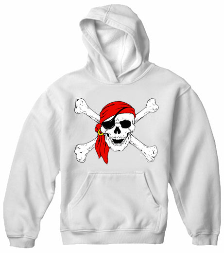 The Jolly Roger Pirate Skull Adult Hoodie