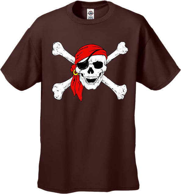 The Jolly Roger Pirate Skull Mens T-Shirt