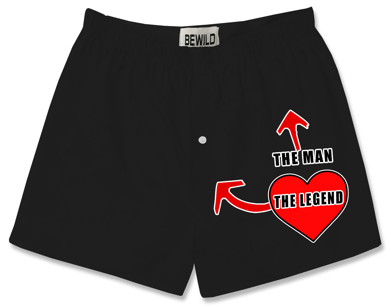The Man The Legend Heart Boxer Shorts