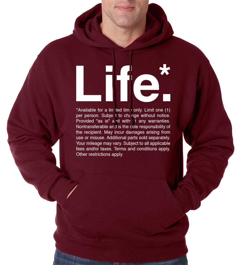 The Terms of Life Adult Hoodie
