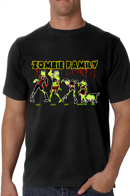 Halloween Tshirt - The Zombie Family Men's T-Shirt