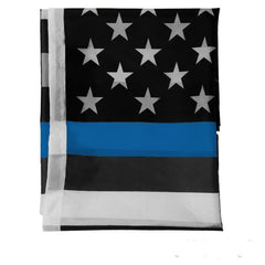Thin Blue Line Flag USA 3 x 5 FT Full Size Police Flag 100% Polyester Indoor / Outdoor use